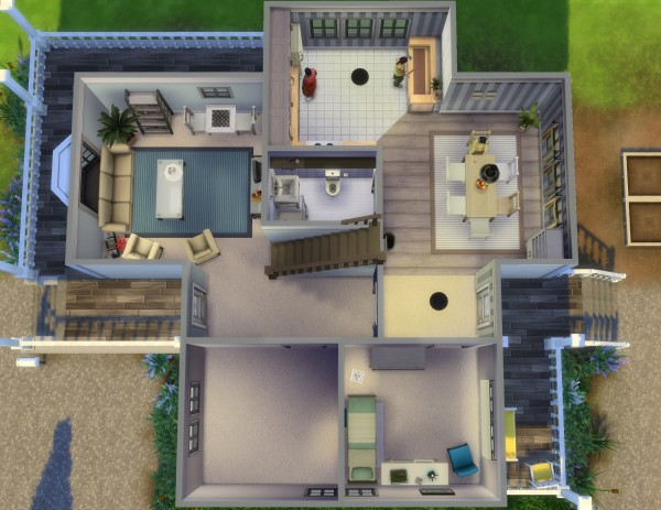 Mod The Sims: Henricks ‒ 6BR 4BA, no CC by plasticbox