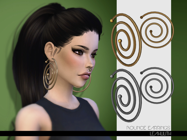 The Sims Resource: Bounce Earrings by LeahLilith