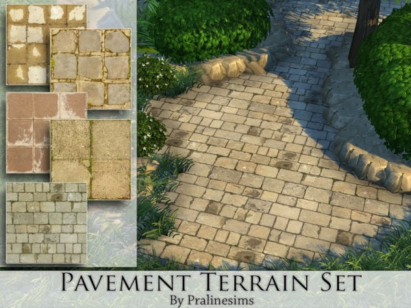 The Sims Resource: Pavement Terrain Set by Pralinesims