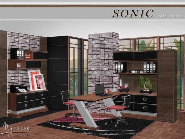 The Sims Resource: Sonic Home Office by NynaeveDesign
