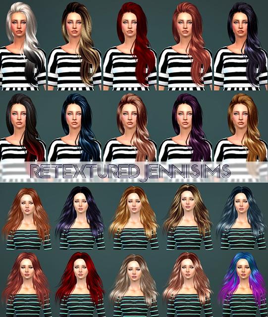 Jenni Sims: Butterflysims170 , SkySims 271 Hairs retextured