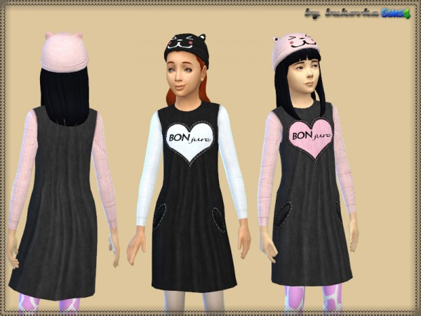 The Sims Resource: Dress Bonjure by bukovka