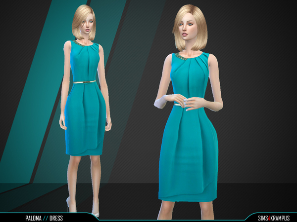 The Sims Resource: Paloma Dress by SIms4Krampus