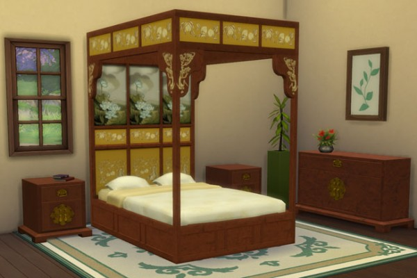Blackys Sims 4 Zoo: Asian Sleeping by mammut