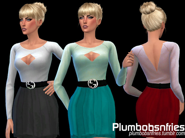 The Sims Resource: Monica Dress 01 by Plumbobs n Fries