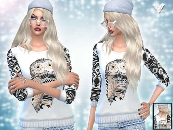 The Sims Resource: Inspiration Winter Aztec Set by Pinkzombiecupcake