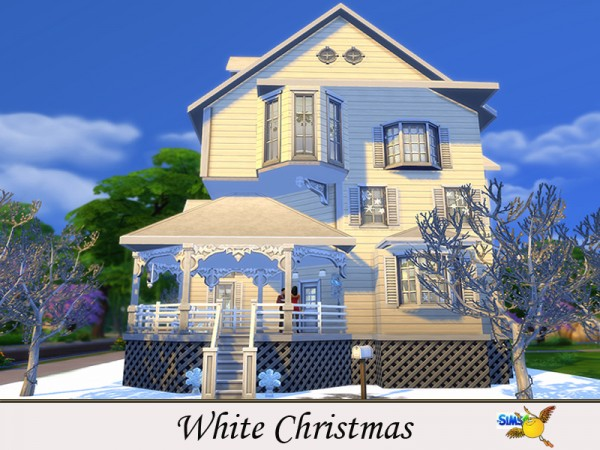 The Sims Resource: White Christmas house by Evi