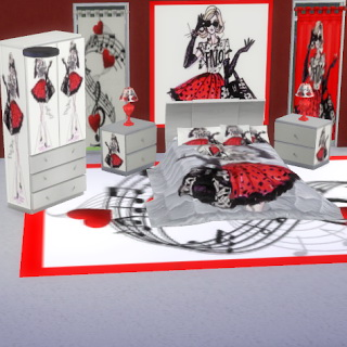 Blankets archives page 2 of 3 sims 4 downloads for Harley quinn bedroom designs