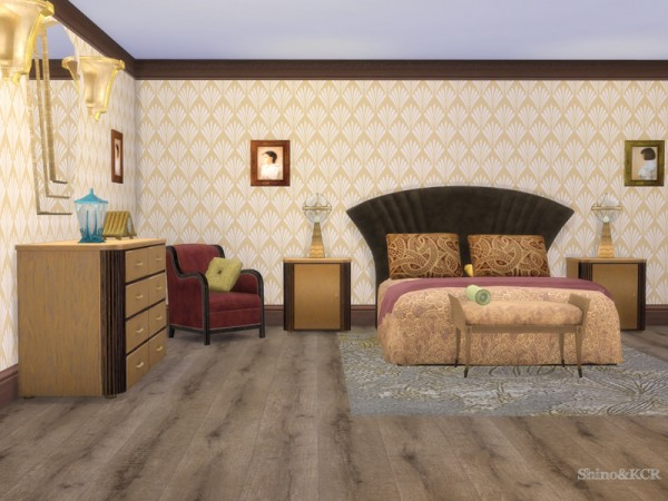 The Sims Resource: Art Deco Bedroom by ShinoKCR