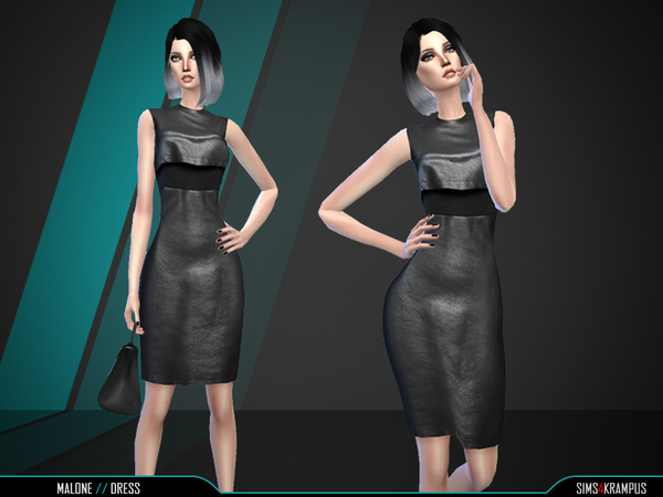 The Sims Resource: Malone Dress by SIms4Krampus