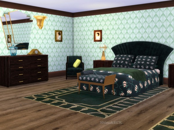 The Sims Resource Art Deco Bedroom By Shinokcr Sims 4