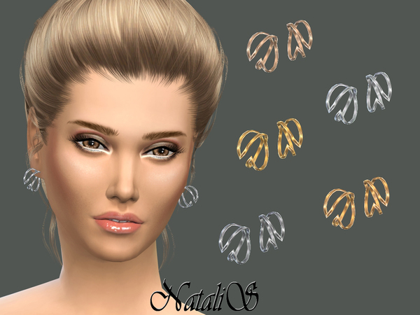 The Sims Resource: Winged earrings by NataliS
