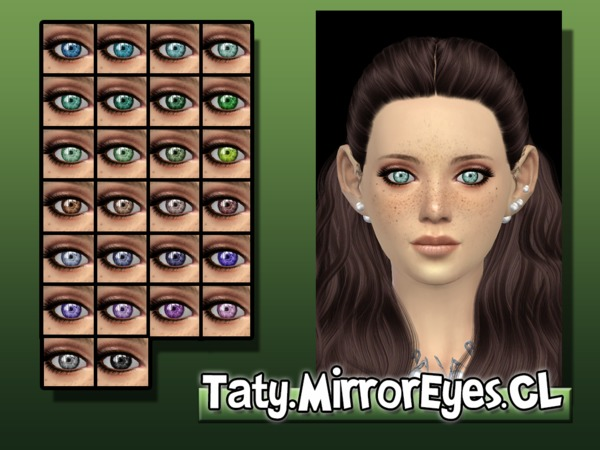 The Sims Resource: Mirror Eyes CL by Taty