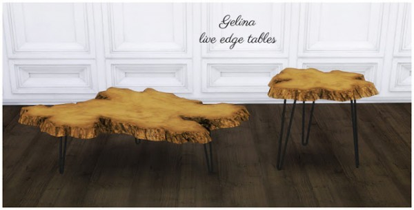 Mio Sims: Gelina live edge tables