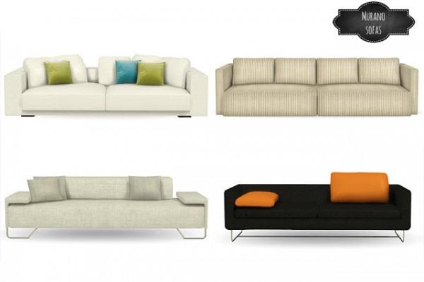 Mio Sims: Murano sofas conversions