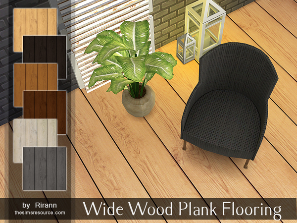 The Sims Resource: Wide Wood Plank Flooring