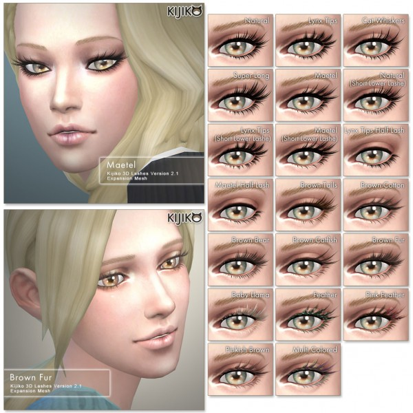 Kijiko: 3D Lashes Version2 for Skin Detail • Sims 4 Downloads