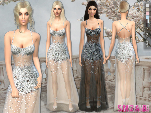The Sims Resource: 122   Transparent Crystal Dress by sims2fanbg