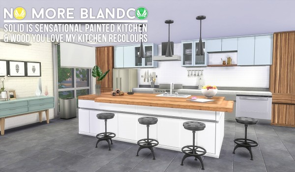 Simsational designs: Blandco No More   Kitchen Recolours