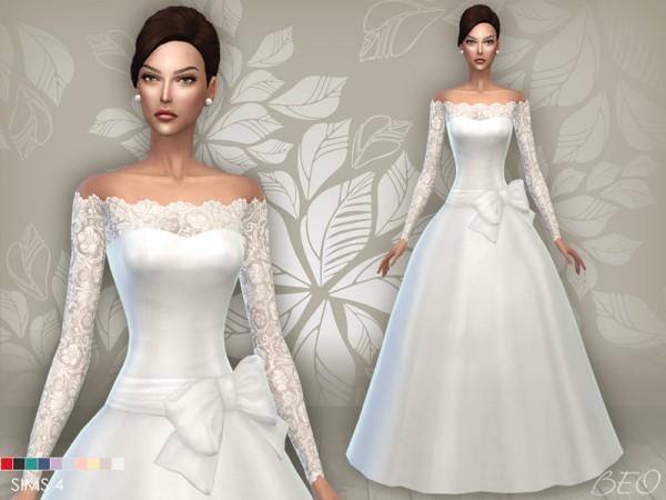 BEO Creations: Weddin Dress 05 • Sims 4 Downloads