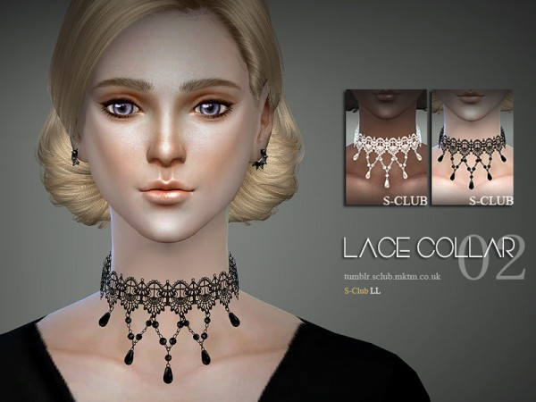 The Sims Resource: Lace collar 04 by S Club
