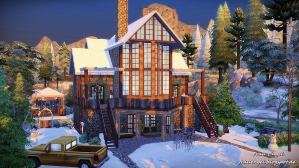 Frau Engel Christmas Cottage For Living Sims Sims 4