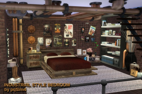 PQSims4 Industrial Style Bedroom Sims 4 Downloads