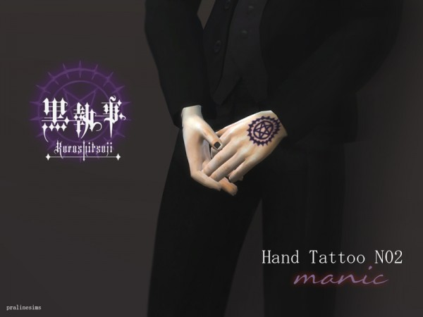 The Sims Resource Hand Tattoo Manic Black Butler Sims