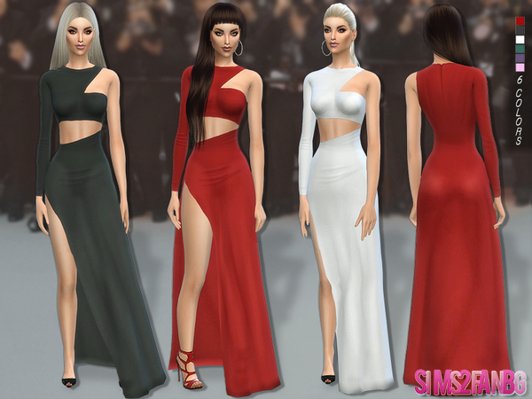 The Sims Resource: 113   Desislava dress by sims2fanbg