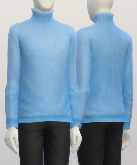 Rusty Nail: Turtleneck sweater MSolid Color