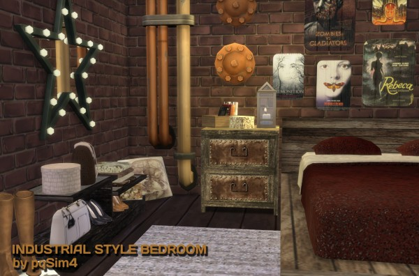 PQSims4  Industrial Style Bedroom   Sims 4 Downloads PQSims4  Industrial Style Bedroom PQSims4  Industrial Style Bedroom  . Industrial Style Bedroom. Home Design Ideas