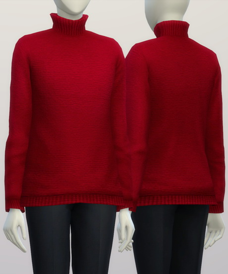 Rusty Nail Turtleneck Sweater F Solid Color Sims 4