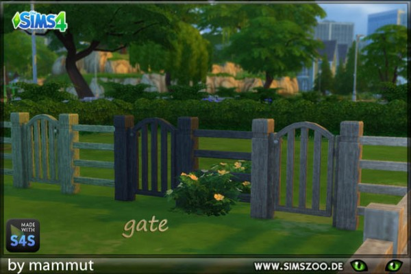 Blackys Sims 4 Zoo: Wood gate by Mammut