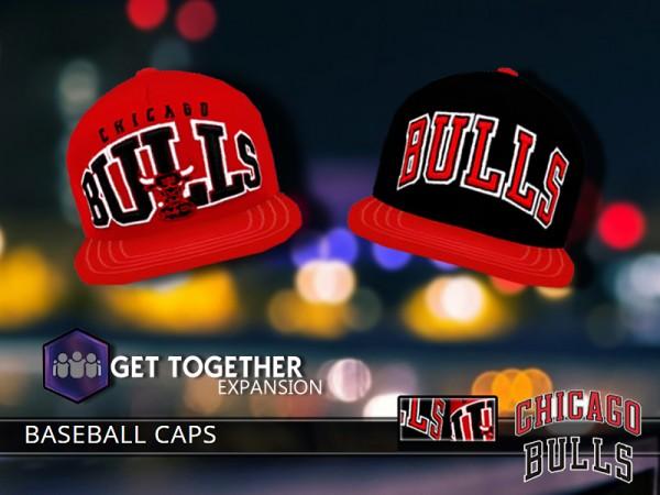 The Sims Resource: Chicago Bulls Caps by Pinkzombiecupcake