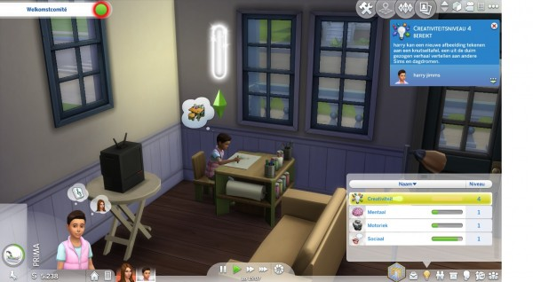 Mod The Sims: No More Screen Slam When Developing a Skill by maloekoegirl