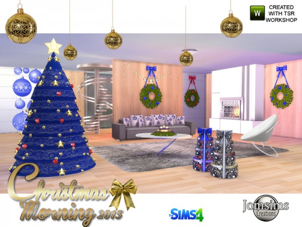 The Sims Resource: Christmas morning 2015 livingroom by jomsims