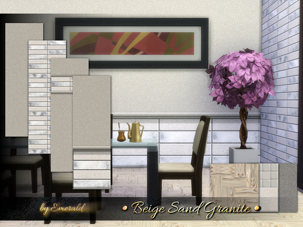 The Sims Resource: Beige Sand Granite by emerald