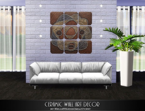 Sims Creativ: Ceramic wall art decor by HelleN