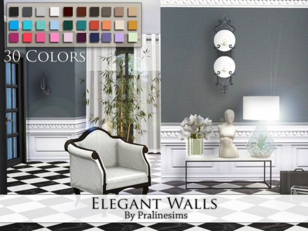 The Sims Resource Elegant Walls By Praline Sims Sims 4