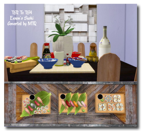 Sims 4 Cc S The Best Windows And Door Decor By Maximss: Sushi • Sims 4 Downloads
