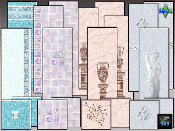 Arte Della Vita: 4 wall floor sets for the bathroom