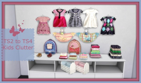 Dinha Gamer: Suza Kids Clutter converted from TS2 to TS4