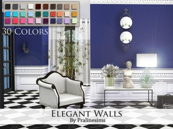 The Sims Resource: Elegant Walls by Praline Sims