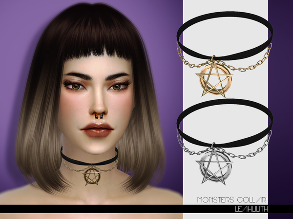 The Sims Resource: Monsters Collar by LeahLilith