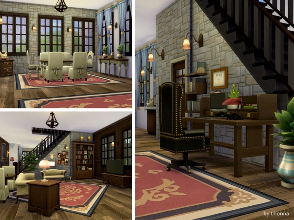The Sims Resource: Stone Cottage by Lhonna