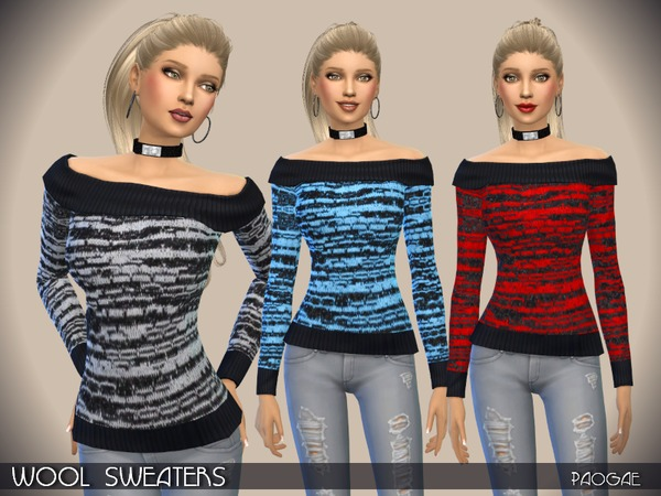 The Sims Resource: Wool Sweaters by Paogae
