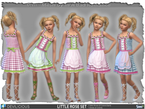 The Sims Resource: Little Rose Set by Devilicious