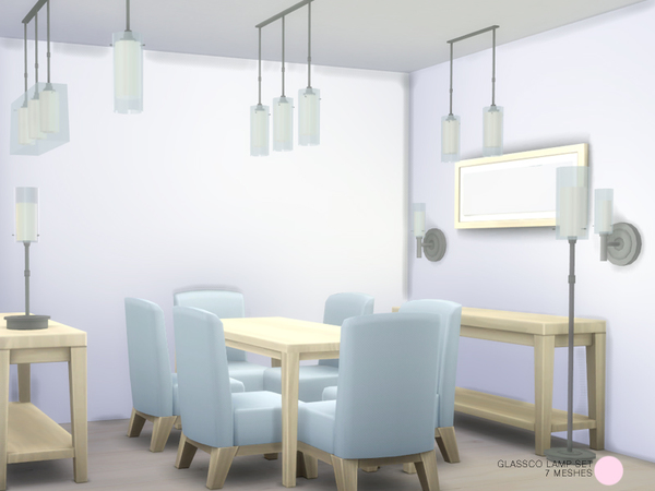 The Sims Resource: Glassco Lamp Set by DOT