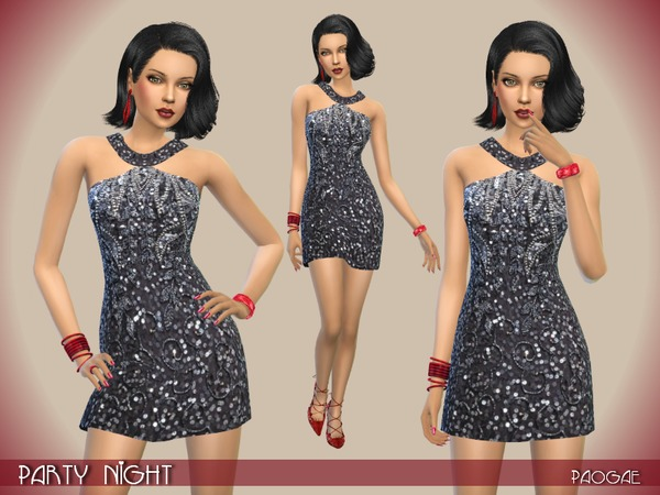 The Sims Resource: Party Night dress by Paogae