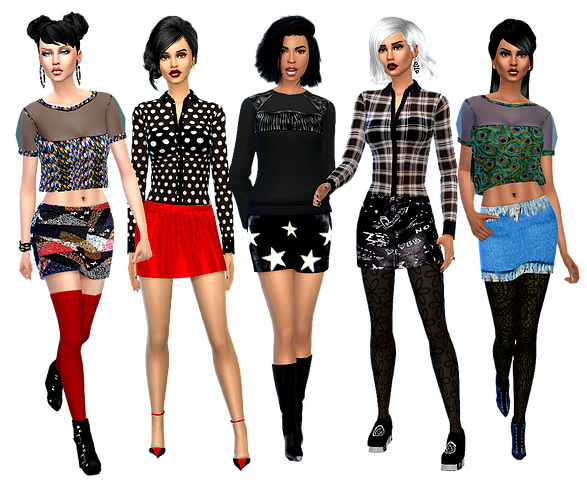 Dreaming 4 Sims: Winter set skirts
